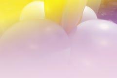 Adornamiento del globo con el filtro suave del foco y de color Foto de archivo libre de regalías