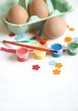 Adornamiento del huevo de Pascua Fotos de archivo