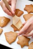 Adornamiento del pan de jengibre Foto de archivo libre de regalías