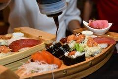 Adornamiento del sushi Foto de archivo