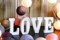 Adornamiento interior casero del amor Fotografía de archivo libre de regalías