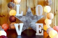 Adornamiento interior casero del amor Fotos de archivo libres de regalías
