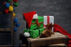 Adornamiento para el día de fiesta de la Navidad Fotos de archivo