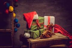 Adornamiento para el día de fiesta de la Navidad Imagen de archivo libre de regalías