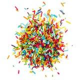 Adornando el azúcar coloreado asperja Fotos de archivo