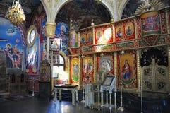 Adorne al santo interior Vlasiy, Bulgaria de la iglesia Fotos de archivo