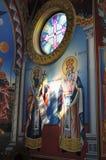 Adorne al santo interior Vlasiy, Bulgaria de la iglesia Fotografía de archivo libre de regalías