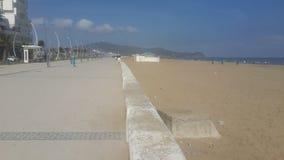 Adorne con cornisa el martil, playa del martil, Marruecos imagen de archivo