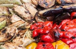 Adorne con las verduras fritas Fotografía de archivo libre de regalías