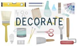 Adorne el concepto moderno creativo contemporáneo brillante ilustración del vector