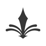 adorne el icono adornado del estilo stock de ilustración