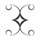 adorne el remolino adornado del estilo ilustración del vector