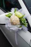 Adorne en el coche de la boda Fotografía de archivo libre de regalías