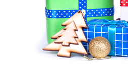 Adorne en la Navidad aislada Imagen de archivo libre de regalías