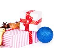Adorne en la Navidad aislada Fotos de archivo libres de regalías