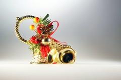 Adorne en la Navidad y el Año Nuevo Fotografía de archivo libre de regalías