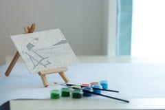 Adorne la acuarela del juguete de la pintura Imagen de archivo libre de regalías