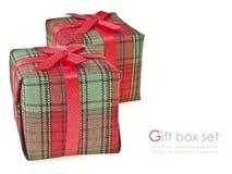 Adorne la caja de regalo Imagen de archivo libre de regalías