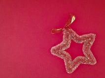 Adorne la estrella roja Foto de archivo libre de regalías