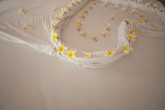 Adorne la flor en la cama Fotografía de archivo libre de regalías