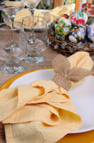 Adorne la tabla de Pascua Imagen de archivo
