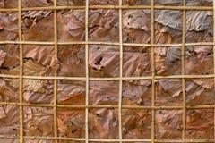Adorne las paredes con las hojas y el fondo secos Fotos de archivo libres de regalías