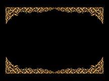 Adorne los elementos, diseños florales del marco del oro del vintage Foto de archivo