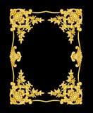 Adorne los elementos, diseños florales del metat del oro del vintage Fotos de archivo libres de regalías