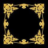 Adorne los elementos, diseños florales del metat del oro del vintage Foto de archivo libre de regalías