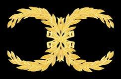Adorne los elementos, diseños florales del oro del vintage aislados Imágenes de archivo libres de regalías