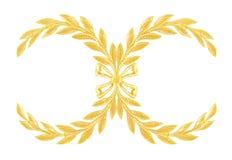 Adorne los elementos, diseños florales del oro del vintage aislados Foto de archivo libre de regalías