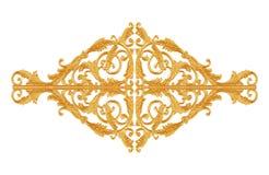 Adorne los elementos, diseños florales del oro del vintage para decorativo Imagenes de archivo