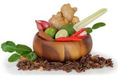 Adorne los grupos de las verduras aislados Foto de archivo libre de regalías