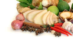 Adorne los grupos de las verduras aislados Imágenes de archivo libres de regalías