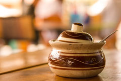 Adorne los tallarines hechos a mano del fondo de Asia y del restaurante en China Imagen de archivo libre de regalías