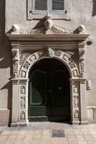 Adorned Arch Door Nimes France Royalty Free Stock Photos