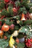 Adorned Christmas tree royalty free stock images