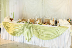 Adorning elegant banquet prepering for celebration specially occ Royalty Free Stock Photos