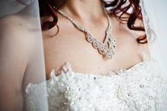 Adornment on neck Stock Photo