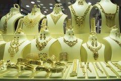 Adorno árabe del oro imagen de archivo