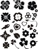 Adorno 9. Inked classis florals ornament in black Stock Images