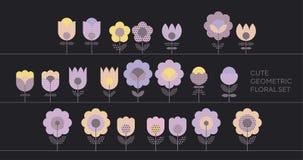 Adorno abstracto floral del color violeta blando de la primavera Imágenes de archivo libres de regalías