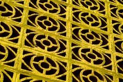 Adorno amarillo Fotos de archivo libres de regalías