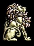 adorno asentado vendimia del león Stock de ilustración