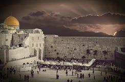Adorno bíblico con la ciudad vieja de Jerusalén, Israel Imágenes de archivo libres de regalías