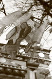 Adorno budista en blanco y negro Imagen de archivo