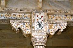 Adorno complejo de Taj Mahal Imagen de archivo