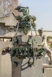 Adorno de bronce en el cementerio monumental, Milán Fotografía de archivo