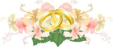 Adorno de la boda ilustración del vector