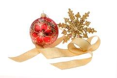 Adorno de la decoración de la Navidad Fotografía de archivo